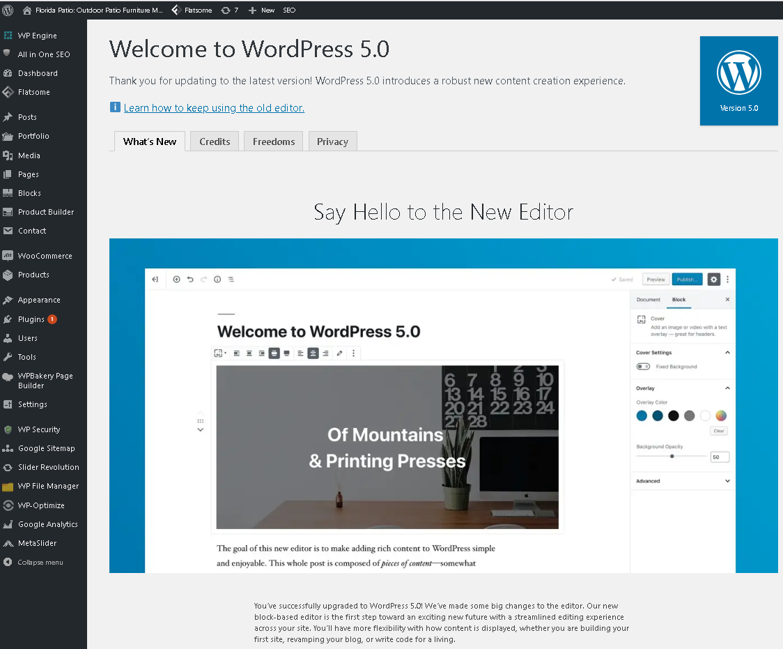 WordPress 5.x