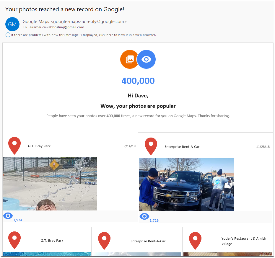 Google Review Maps Pictures